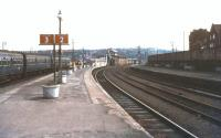 Looking out from platforms 2 & 3 at Whitby in 1974.<br><br>[Ian Dinmore&nbsp;//1974]