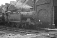 Collett 0-6-2T no 6643 standing alongside Barry shed in August 1960.<br><br>[K A Gray&nbsp;07/08/1960]