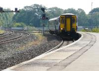 156442 arrives at Kilmarnock on 24 August with a Newcastle - Glasgow Central service.<br><br>[Ken Browne&nbsp;24/08/2011]
