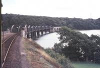The viaduct over the River Tavy north of Tamerton Foliot on the Tamar Valley line, seen here in 1978.<br><br>[Ian Dinmore&nbsp;//1978]