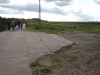 Southern most extant track section of the former Spurn Head military railway located between the visitor car park and the RNLI Humber Lifeboat Crew 'village' at Spurn Head. <br><br>[David Pesterfield&nbsp;28/08/2011]