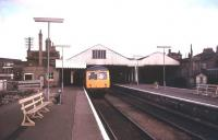 A lonely looking DMU stands at platform 2 at Lowestoft in August 1990.<br><br>[Ian Dinmore&nbsp;/08/1990]