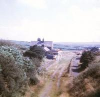 The remains of Camelford station, North Cornwall, looking along the trackbed in the direction of Launceston in September 1972.<br><br>[Ian Dinmore&nbsp;11/09/1972]