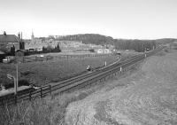 Just north of Markinch Station was a short siding serving a co-op coal yard.  It did not last long after this 1975 photograph was taken.<br><br>[Bill Roberton&nbsp;//1975]