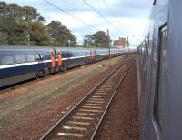 ECML services held up at Dunbar on 11 September 2011 due to a points failure north of the station. The problem resulted in delays of approximately 90 minutes.<br><br>[Andrew Wilson&nbsp;11/09/2011]