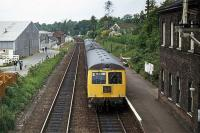 A Norwich-Yarmouth service leaves Brundall on 31st May 1976<br><br>[Mark Dufton&nbsp;31/05/1976]