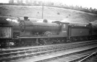 Scott class 4-4-0 no 62440 <I>'Wandering Willie'</I> stands on Hawick shed in 1958.<br><br>[Robin Barbour Collection (Courtesy Bruce McCartney)&nbsp;//1958]