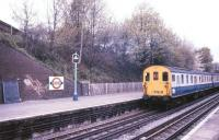<I>Tadpole</I> Farewell Tour - a class 206 DMU photographed at Croxley Metropolitan Line station in May 1986<br><br>[Ian Dinmore&nbsp;/05/1986]