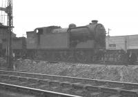 Class N2 0-6-2T no 69589 stands in a siding at Stratford in 1960. The locomotive is thought to have been withdrawn and awaiting disposal at this point. [With thanks to Messrs Jamieson, Smith and Pesterfield].<br><br>[K A Gray&nbsp;//1960]