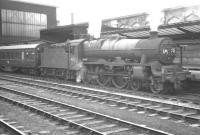 Jubilee no 45713 <I>Renown</I> about to take a train south out of Carlisle on Saturday 4 August 1962. The train is the 7.43am Paisley Gilmour Street - Blackpool Central.<br><br>[K A Gray&nbsp;04/08/1962]