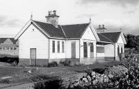 The 1884 through station at Portsoy, photographed in 1977. Opened following the extension of the line west, it replaced the original terminus [see image 35666]. Closed in 1963, it was later put to use by the local Scouts.<br><br>[Bill Roberton&nbsp;/09/1977]