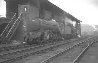 V2 2-6-2 no 60887 alongside the coaling stage at Heaton shed in May 1963, with V3 2-6-2T no 67658 beyond.<br><br>[K A Gray&nbsp;25/05/1963]