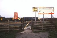 A much used gate. Pedestrian entrance to Toton depot in November 1990.<br><br>[Ian Dinmore&nbsp;/11/1990]
