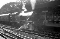Class V1 2-6-2T no 67641 waiting to leave Newcastle Central in the 1960s. The locomotive has just taken over a through boat train from Kings Cross and will soon depart for the Tyne Commission Quay at North Shields.<br><br>[K A Gray&nbsp;//]