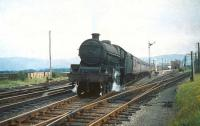 Jubilee no 45634 <I>Trinidad</I> photographed at Symington with a northbound train on 29 August 1959.<br> <br><br>[A Snapper (Courtesy Bruce McCartney)&nbsp;29/08/1959]