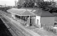 The building on the up Buchan line platform at Dyce station in September 1977.<br><br>[Bill Roberton&nbsp;/09/1977]