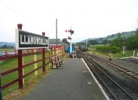 Looking towards Bala from the platform at Llanuwchllyn on the Bala Lake Railway in the summer of 2006.<br><br>[Bruce McCartney&nbsp;02/07/2006]