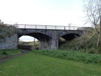 The Dreel Viaduct on the Leven to St. Andrews line, looking west in September 2011. To the left was the original Anstruther terminus which became the goods station when the Anstruther and St Andrews Railway joined at an end-on junction and Anstruther (New) station was built just off picture to the right. Nothing now remains of either station, one site being occupied by housing and the other by industrial buildings.<br><br>[Colin Miller&nbsp;21/09/2011]