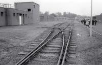 The internal sidings at RAF Leuchars (superceded by the Linkswood Fuel Store) on an open day on 19 September 1992. With the RAF base scheduled to be replaced by an army depot, could the sidings be revived?<br> <br><br>[Bill Roberton&nbsp;19/09/1992]