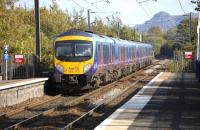 First TransPennine units 185122 and 185113 run north east through Kingsknowe station on 25 September with the 09.00 from Manchester Airport to Edinburgh Waverley.<br> <br><br>[Bill Roberton&nbsp;25/09/2011]