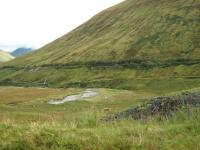 The West Highland Railway line through Glen Orchy, seen in September 2011. The West Highland Way runs parallel with the railway here, lower down the hillside.<br><br>[Alistair MacKenzie&nbsp;17/09/2011]