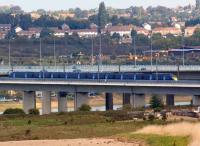 Crossing the River Medway on HS1, a South Eastern Class 395 Javelin set heads for St Pancras on 26 September 2011. On the far side of the railway viaduct is the M2 motorway.<br><br>[John McIntyre&nbsp;26/09/2011]