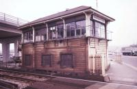 Newhaven Town signal box in November 1988.<br><br>[Ian Dinmore&nbsp;/11/1988]