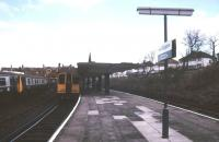 Looking back towards the buffer stops at New Brighton terminus on 2 January 1989.<br><br>[Ian Dinmore&nbsp;02/01/1989]