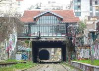 The former Charonne Station on the Petite Ceinture line in Paris on 1 October 2011. Situated on the Rue Bagnolet, now converted into the Fleche d'Or Cafe.<br><br>[Alistair MacKenzie&nbsp;01/10/2011]