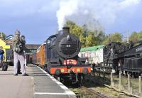 First day of the GCR Autumn Gala on 6 October 2011. No 88 stands with a train at Loughborough Central.<br><br>[Peter Todd&nbsp;06/10/2011]