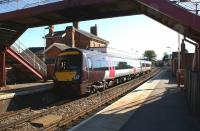 The 1422 hrs Arriva CrossCountry service from Birmingham New Street to Stanstead Airport calls at Oakham on 27 September 2011<br> <br><br>[John McIntyre&nbsp;27/09/2011]