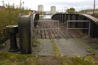 Old railway swing bridge at Port Dundas, Glasgow, on 9 October 2011.<br> <br><br>[Bill Roberton&nbsp;09/10/2011]