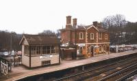 The station at Wadhust in East Sussex in February 1986. Situated on the Hastings line, the station was opened by the South Eastern Railway in 1851.<br><br>[Ian Dinmore&nbsp;/02/1986]