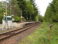 Looking south at Tyndrum Lower station on 20 June 2011. My only previous visit here was in the summer of 1963 when leaving the 6.15am ex Oban at 7.42 to leg it to Tyndrum Upper for the 8.10am to Fort William & Mallaig. There followed a ferry to Kyle and a train on to Inverness to end an intensive two days of shed visits which had started at Perth the previous day.    <br><br>[David Pesterfield&nbsp;20/06/2011]