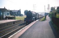 V2 2-6-2 no 60913 about to run through Joppa station with a Waverley bound ECML service in the summer of 1959.<br><br>[A Snapper (Courtesy Bruce McCartney)&nbsp;25/07/1959]