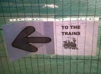 Another informal, but effective, direction sign at Loughborough Midland on 30 September [see image 35943]. Perhaps EMT staff know more than the rest of us regarding future generations of MML motive power?<br><br>[Ken Strachan&nbsp;30/09/2011]