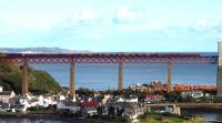Looking over North Queensferry on 19 October as a special crosses the Forth Bridge.<br><br>[John Steven&nbsp;19/10/2011]