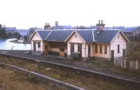 Scene at Portsoy station in 1974, just over 6 years after closure.<br><br>[David Spaven&nbsp;//1974]