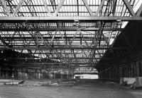 Interior of Leith Central Station in 1975. The location had latterly served as a diesel depot (64H). [See image 27361] <br> <br><br>[Bill Roberton&nbsp;//1975]