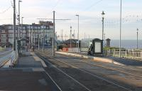 An illustration of the rapid transformation that has taken place on the Blackpool and Fleetwood Tramway in 2011. This is the view towards Gynn Square showing the new tram platforms nearing completion. [See image 32859] for the same location in February 2011.<br><br>[Mark Bartlett&nbsp;26/10/2011]