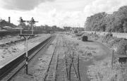 Desolation at Alloa. Looking west over the station remains in 1975 [see image 6473].<br><br>[Bill Roberton&nbsp;//1975]