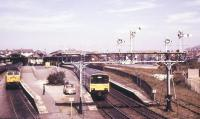 View over Llandudno station from the signal box in July 1986.<br><br>[Ian Dinmore &nbsp;/07/1986]