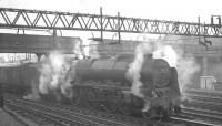 Royal Scot 46115 <I>Scots Guardsman</I> at Motherwell station on 29 October 1964 with the 9.25am Crewe - Perth.<br><br>[K A Gray&nbsp;29/10/1964]