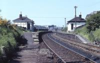 The closed station at Gorgie East on the 'sub' viewed from the south end in the spring of 1971. [See image 3788]<br><br>[Bill Jamieson&nbsp;//1971]
