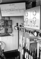 Interior of the signalbox at Carrbridge in 1973.<br><br>[Bill Roberton //1973]