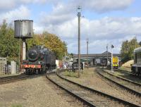 General view of the GCR facilities at Loughborough on 6 October 2011 with ex-SDJR No 88 standing on the left alongside the water tower.<br><br>[Peter Todd&nbsp;05/10/2011]