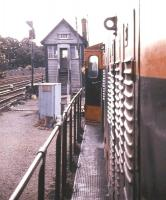 <I>I can see you too....</I> Held up by a signal check at the appropriately named Limerick Check signal box in the summer of 1988.   <br><br>[Ian Dinmore&nbsp;/07/1988]