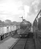 St Margarets V3 2-6-2T no 67668 at Duddingston Junction on 25 August 1962. The locomotive had brought the Stephenson Locomotive Society (Scottish Area) <I> Edinburgh & Dalkeith Rail Tour </I> from Waverley and handed over here to J35 0-6-0 no 64510 for the trip up the St Leonards branch [see image 36313].<br><br>[R Sillitto/A Renfrew Collection (Courtesy Bruce McCartney)&nbsp;25/08/1962]