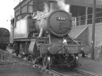Collett ex-GWR 2-6-2T no 4111 stands on Tyseley shed in October 1961.<br><br>[K A Gray&nbsp;07/10/1961]