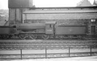 J39 0-6-0 no 64986 stands alongside Hawick shed in July 1958.<br><br>[Robin Barbour Collection (Courtesy Bruce McCartney)&nbsp;26/07/1958]